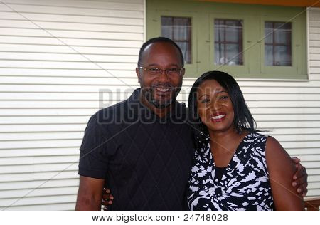Black  Couple Smiling