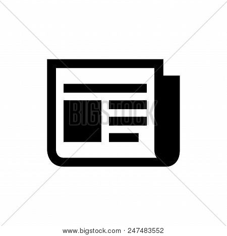 News Vector Icon Flat Style Illustration For Web, Mobile, Logo, Application And Graphic Design. News
