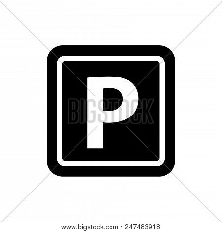 Parking Vector Icon Flat Style Illustration For Web, Mobile, Logo, Application And Graphic Design. P