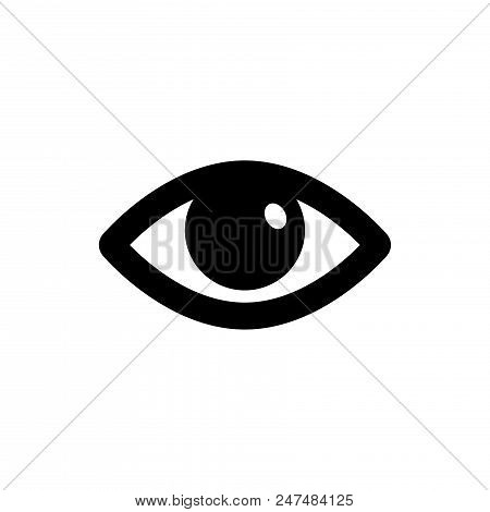 Eye Vector Icon Flat Style Illustration For Web, Mobile, Logo, Application And Graphic Design. Eye V