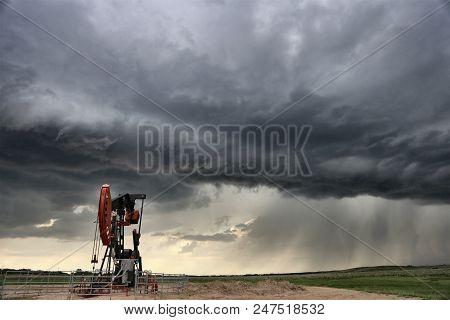 Storm Oil Field Pump Jack