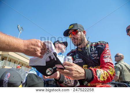June 24, 2018 - Sonoma, California , USA: Martin Truex, Jr (78) wins the TOYOTA/SAVE MART 350 at Sonoma Raceway in Sonoma, California .
