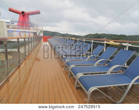 Cruising The Caribbean Of The Carnival Magic Cruise Ship - 11/29/17 - Deck Chairs And Poor Area On T