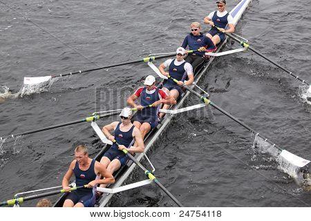 Brock Rowing races in the Head of Charles Regatta