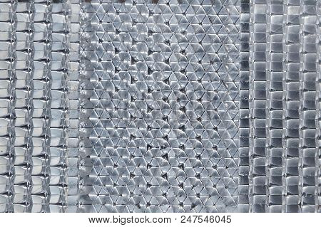 Gray White Plastic Texture Of The Reflector With A Pattern