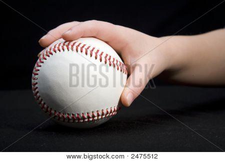 Grabbing The Baseball