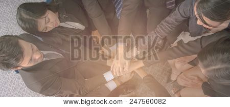 Teamwork Join Hands Support Together Concept,collaboration Concept,brainstorming Hand Teamwork Conce