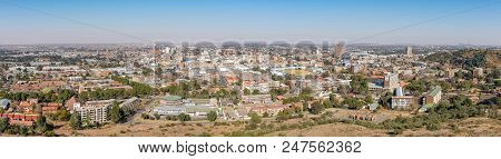 Bloemfontein, South Africa, June 27, 2018: Panorama Of The Central Business District Of Bloemfontein