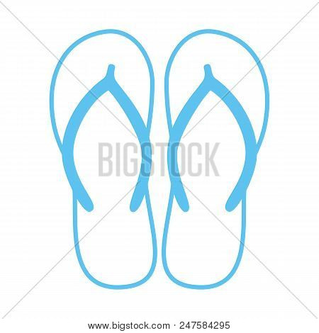 b46708578ee2 Colorful Flip Flops. Beach Slippers. Sandals. Vector Icon Isolated On White  Background.