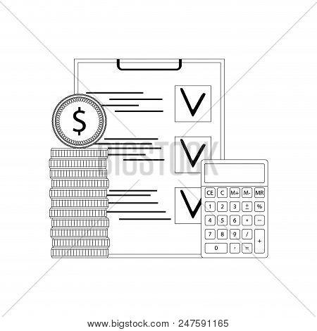 Financial Audit And Verification. Inspection Audit Finance Budget, Profit Analysis, Earnings Financi