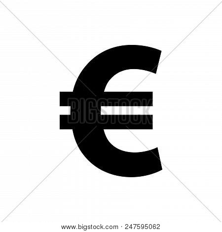 Euro Vector Icon Flat Style Illustration For Web, Mobile, Logo, Application And Graphic Design. Euro
