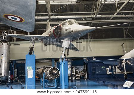 Le Bourget, Paris, France- May 04,2017: Dassault Mirage Iii A 01-the First European Fighter, Twice T