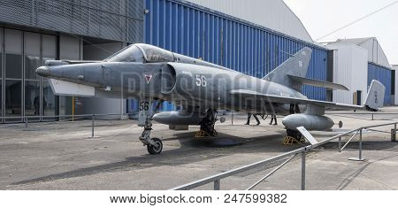 Le Bourget, Paris, France- May 04,2017: Dassault Etendard Ivm(1956) In The Museum Of Astronautics An