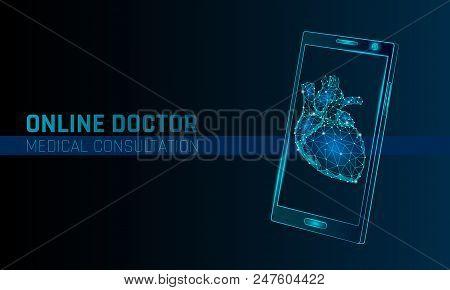 Doctor Online Medical App Mobile Applications. Digital Heathcare Medicine Diagnosis Concept Banner.