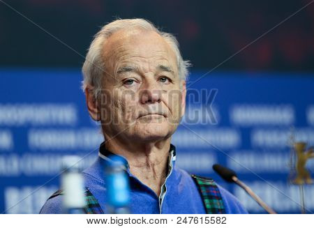 Bill Murray attends the 'Isle of Dogs' press conference during the 68th Berlinale International Film Festival Berlin at Grand Hyatt Hotel on February 15, 2018 in Berlin, Germany.