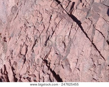 Geology Mountains Stones And Rock Formation Morocco Atlas Brown Stone Texture. Rock Formation With C