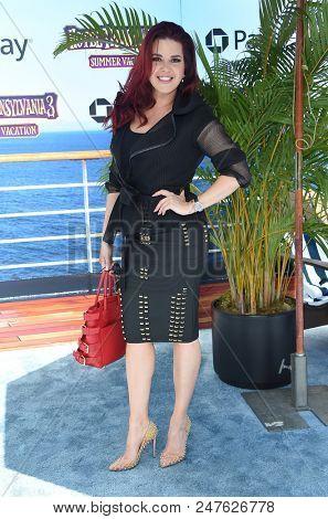 LOS ANGELES - JUN 30:  Alicia Machado arrives to the 'Hotel Transylvania 3: Summer Vacation' World Premiere  on June 30, 2018 in Hollywood, CA