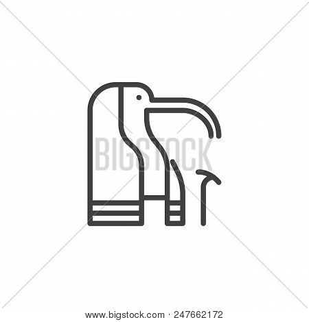 Egyptian Gods Thoth Outline Icon. Linear Style Sign For Mobile Concept And Web Design. Thoth Head Si
