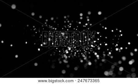 Blur Background With Bokeh Effect, Out Of Focus Background, Lights Bokeh On Black Background