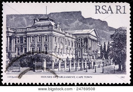 A 1-rand Stamp Printed In South Africa