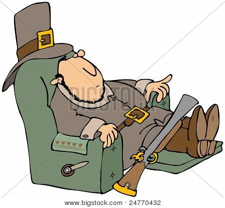 Tired Pilgrim In A Recliner