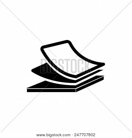 Stacked Papers Vector Icon Flat Style Illustration For Web, Mobile, Logo, Application And Graphic De