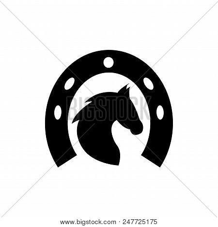 Horse Head Vector Icon Flat Style Illustration For Web, Mobile, Logo, Application And Graphic Design