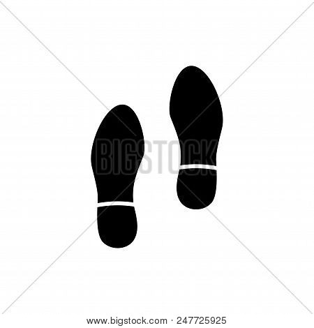 Human Shoes Footprints Vector Icon Flat Style Illustration For Web, Mobile, Logo, Application And Gr
