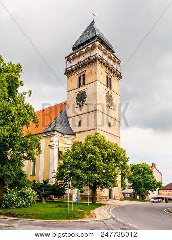 Church Of Saint Lawrence In Dacice, Czech Republic.