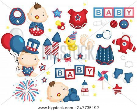 4th Of July Independence Day Celebration Baby Theme