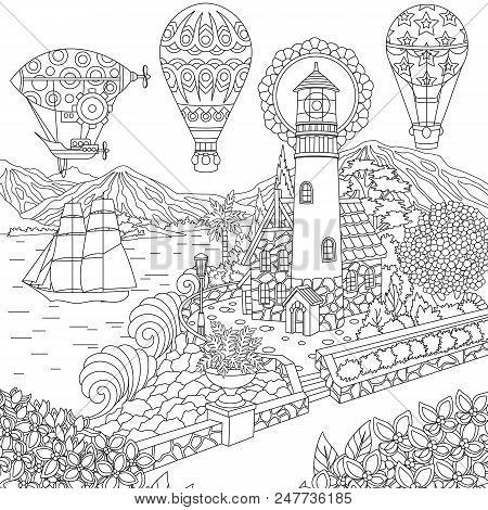 Hot Air Balloon Coloring Pages - Free Printables | 470x450