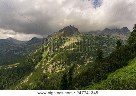Peaks In Mengusovska Valley. High Tatras. Slovakia