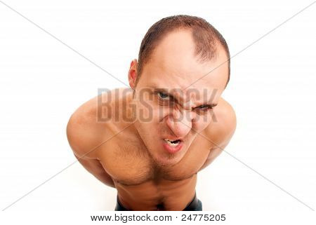 Angry Man With Hairy Chest