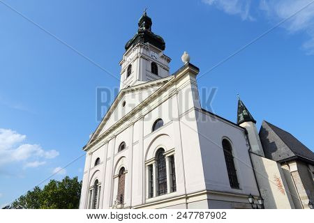 Cathedral Basilica Of The Assumption Of Our Lady In Gyor, Hungary.