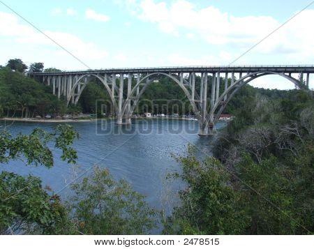 Bridge At RíO Canimar In Matanzas Cuba