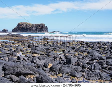 Rough Ocean And Cliffs At Bushrangers Bay Near Cape Schanck, Australia 2017