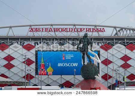 23 June 2018. Russia. Moscow. View Stadium Spartak During The Match Belgium - Tunisia.