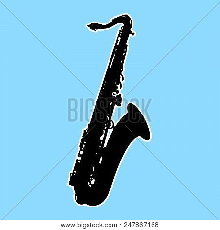 Silhouette Of Saxophone - Sax, Musical Instrument