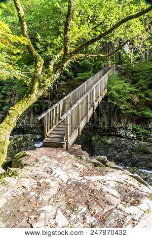 Miners Bridge, Wooden Crossing In Betws Y Coed