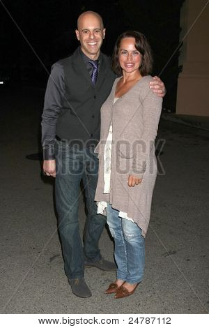LOS ANGELES - OCT 27:  Steve Silverman, Crystal Chappell arrives at the