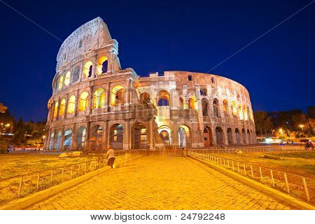 The Majestic Coliseum, Rome, Italy.
