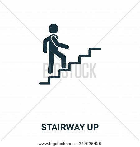 Stairway Up Icon. Line Style Icon Design. Ui. Illustration Of Stairway Up Icon. Pictogram Isolated O