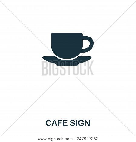Cafe Sign Icon. Line Style Icon Design. Ui. Illustration Of Cafe Sign Icon. Pictogram Isolated On Wh