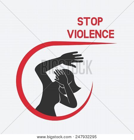 Stop Violence Against Women Poster Vector Illustration - Eps 8