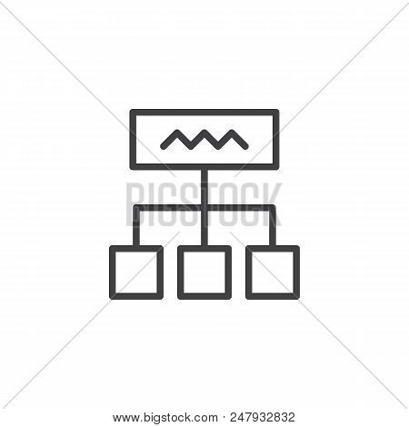 Diagram Outline Icon. Linear Style Sign For Mobile Concept And Web Design. Hierarchy Scheme Simple L