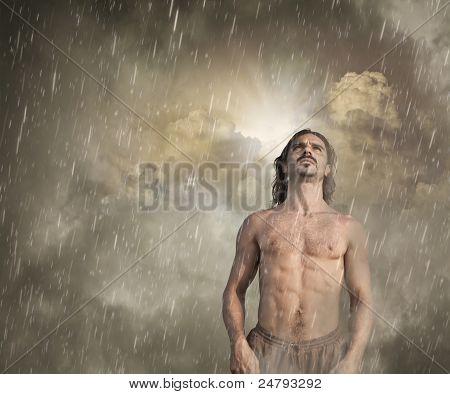 Man Feeling Lost In The Rain