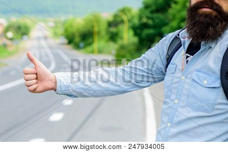 Usually use thumb up to inform drivers hitchhiking. But in some cultures gesture offensive so you risk to be killed by furious driver you just insulted. Hitchhiking culture. Thumb up gesture meaning. poster