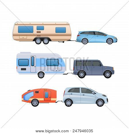 Set Various Trailers Vector & Photo (Free Trial) | Bigstock
