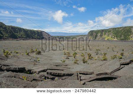 Barren Landscape Of The Kilauea Iki Trail, Hawaii