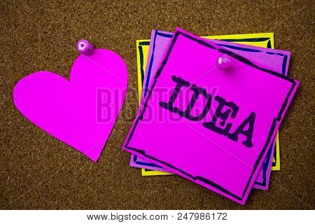 Writing Note Showing  Idea. Business Photo Showcasing Creative Innovative Thinking Imagination Desig